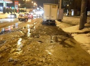 Очередную воронежскую улицу затопило стремительным потоком фекалий