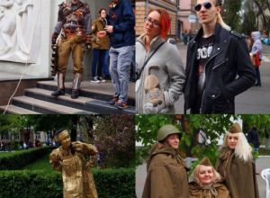 «Золотые люди» и ветераны стим-панка – как воронежцы отмечают 72-ю годовщину Победы
