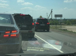 Воронежские полицейские рассказал, как объехать пробку в Лосево