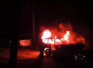 На воронежской «Девятке» ночью сгорел автомобиль «Нива»