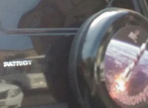 Космический УАЗ Патриот заметили на дороге в Воронеже