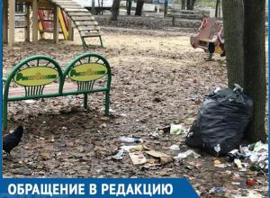Хочется пристыдить власти за помойку на детской площадке! – жительница Воронежа