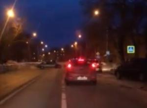 Погоню за пьяной автомобилисткой на Машмете сняли на видео воронежцы