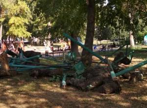 Грубо раскуроченную площадку сняли в центре Воронежа