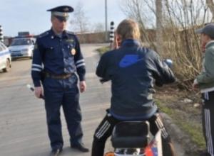 Воронежских байкеров начали массово проверять полицейские