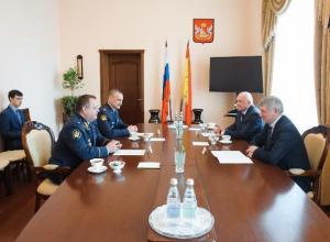 Александр Гусев познакомился с новым главой воронежского УФСИН