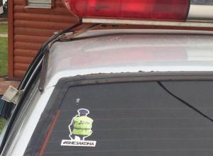 Надпись «вне закона» на полицейском авто в Воронеже удивила горожан