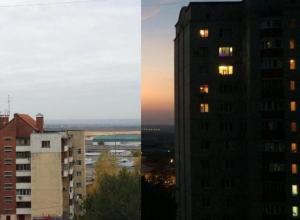 Рассвет и закат в Воронеже попали на одно фото