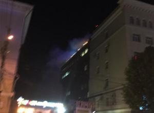 Пожар на крыше Il Tokyo попал на фото