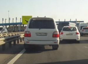 Дагестанский Toyota Land Cruiser устроил беспредел на воронежской платке