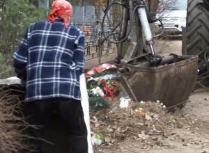 Грандиозную уборку воронежских кладбищ после Пасхи сняли на видео