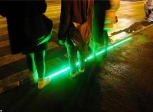 В центре Воронежа появился светящийся пешеходный переход