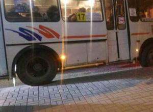Воронежцев возмутил маршрутчик, катающийся по тротуару