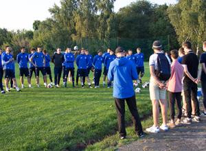 Футбольные фанаты поговорили с игроками «Факела» в неформальной обстановке