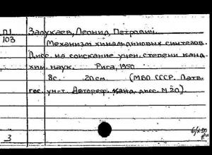 100 лет назад родился известный воронежский химик Леонид Залукаев