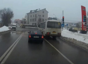 В Воронеже унижение светофора маршрутчиком сняли на видео