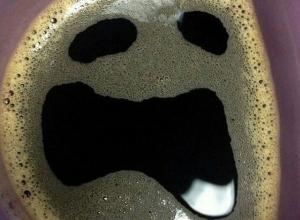Кофе с рожей из фильмов ужасов сфотографировали в Воронеже