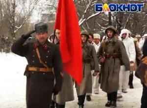 На реконструкции битвы за Воронеж дети кричали: «За Сталина!»