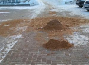 Воронежцев рассмешили «песочницы» на тротуарах