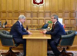 Александр Гусев провел в Воронеже первую официальную встречу в статусе врио губернатора