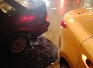 Автомобилистка по-пацански решила вопрос с ДТП на парковке в Воронеже