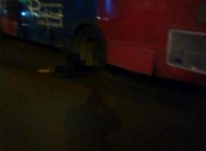 В Воронеже опубликовали страшное фото раздавленной автобусом женщины