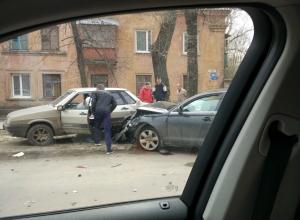 Последствия эпичной массовой аварии сняли в Воронеже