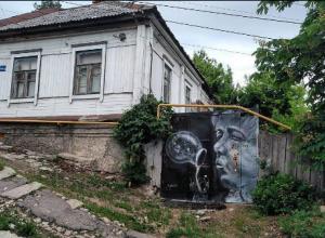 Необычное граффити на старом доме в Воронеже вызвало негодование в Сети