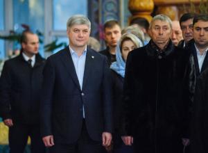 Александр Гусев встретил Рождество в главном воронежском храме