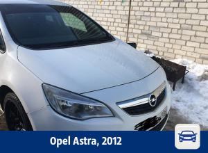 Белый Opel Astra продают в Воронеже