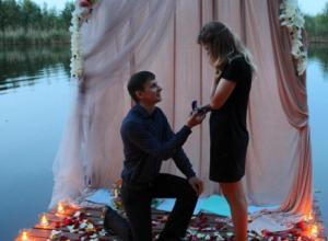 Романтичное предложение руки и сердца попало на фото и растрогало жителей Воронежа