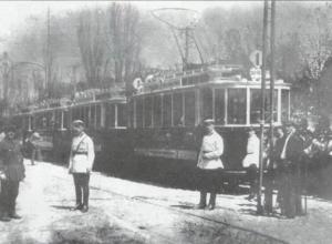 Церемонию открытия трамвайного движения в Воронеже показали на фото