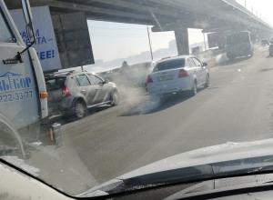 Воронежских автомобилистов взбесил дырявый Северный мост