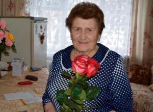 В Воронеже с юбилеем поздравили одну из старейших жительниц Центрального района