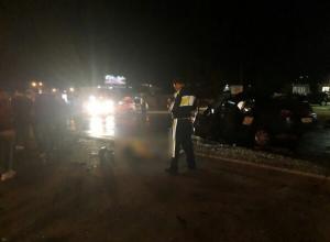 Опубликованы страшные снимки ДТП с двумя погибшими в Воронеже