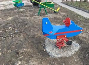 Благоустройство детской площадки вызвало гнев воронежского общественника