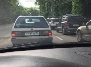 В центре Воронежа образовалась пятикилометровая пробка