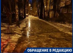 Жители Воронежа рассказали о потопе и ледяном катаклизме в Северном