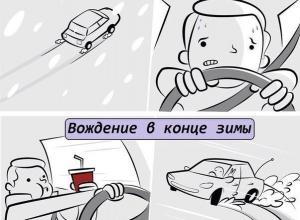 Воронежцам показали разницу в вождении в первый снег и в конце зимы