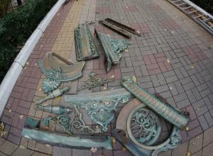 В Воронеже с исторической усадьбы Шуклиных демонтировали уникальный навес