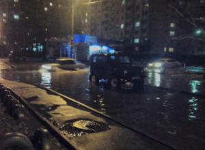 Воронежцев возмутила «водная гладь» на улицах в Северном