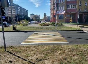 Воронежцев привел в шок новый пешеходный переход, который дорожники обустроили на Машмете