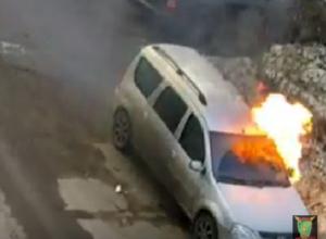 В Воронеже подожгли автомобиль автоактивиста Шамардина