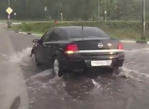 Страшный потоп на воронежской окружной попал на видео