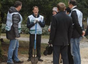 Как Алексей Гордеев в Воронеже сажал туи