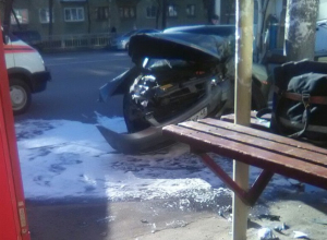Последствия столкновения с наездом на пешехода сняли в Воронеже
