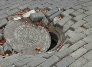 5-классница угодила в канализационный люк недалеко от воронежской школы