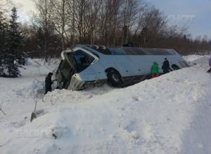 Полицейские сообщили подробности ДТП с автобусом на воронежской трассе