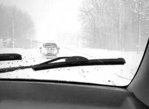 Снежный апокалипсис на трассе под Воронежем сняли на видео