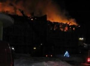 Крупный пожар на воронежской турбазе «Немецкая слобода» попал на видео